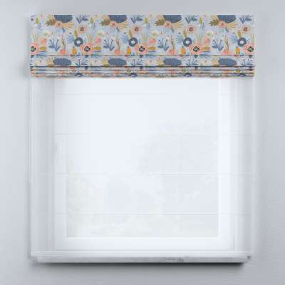Voile and fabric roman blind (DUO II) in collection Magic Collection, fabric: 500-05