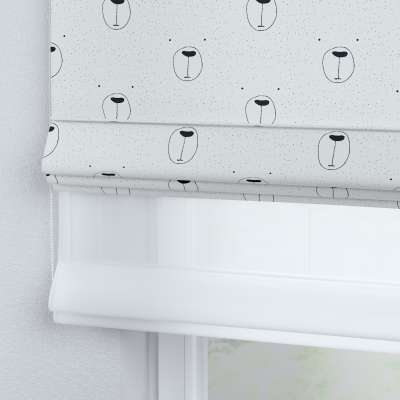 Voile and fabric roman blind (DUO II) in collection Magic Collection, fabric: 500-06