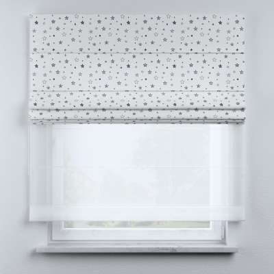 Voile and fabric roman blind (DUO II) in collection Magic Collection, fabric: 500-08