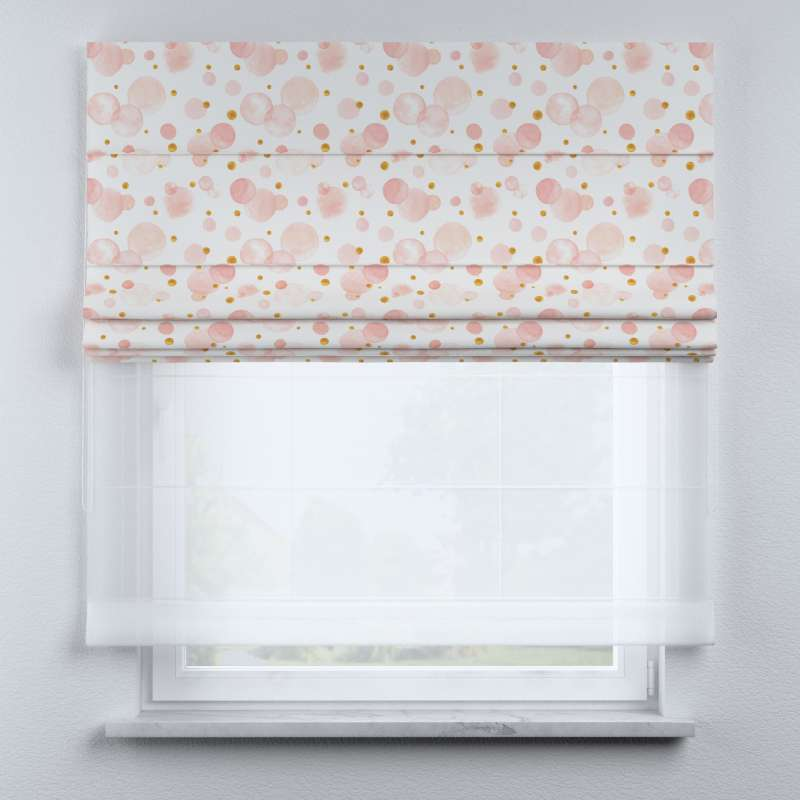 Voile and fabric roman blind (DUO II) in collection Magic Collection, fabric: 500-13