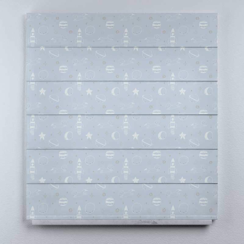 Voile and fabric roman blind (DUO II) in collection Magic Collection, fabric: 500-16