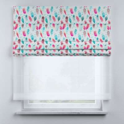 Voile and fabric roman blind (DUO II) in collection Magic Collection, fabric: 500-17