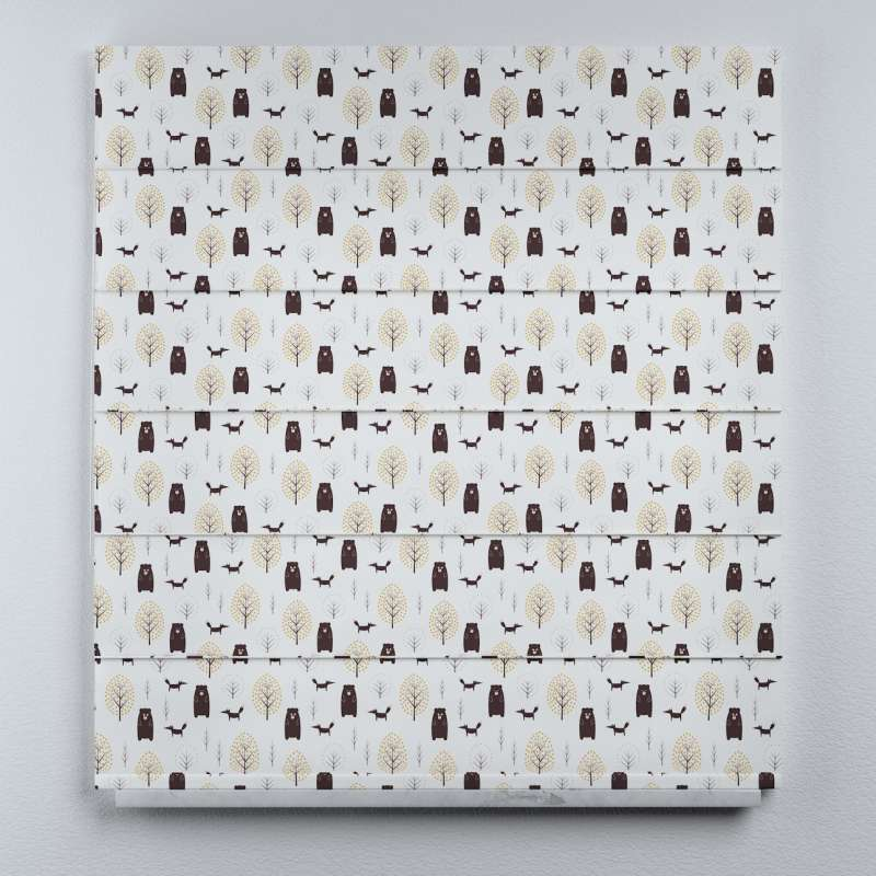 Voile and fabric roman blind (DUO II) in collection Magic Collection, fabric: 500-19