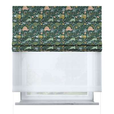 Voile and fabric roman blind (DUO II) in collection Magic Collection, fabric: 500-20