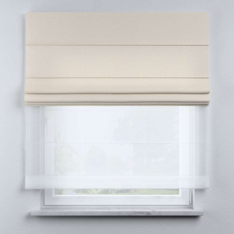 Voile and fabric roman blind (DUO II) in collection Happiness, fabric: 133-65