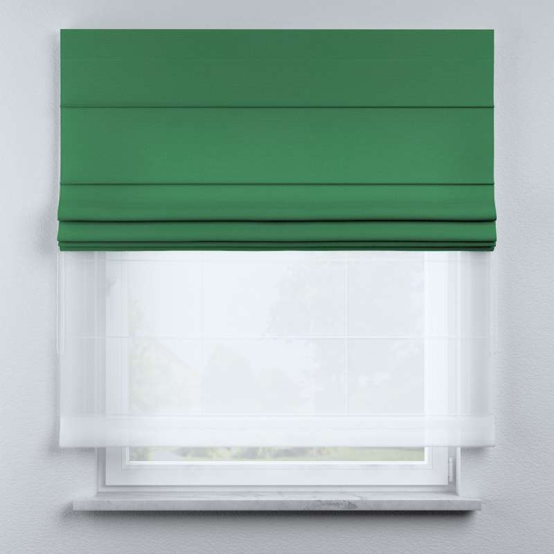 Voile and fabric roman blind (DUO II) in collection Happiness, fabric: 133-18
