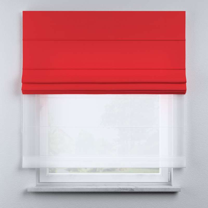 Voile and fabric roman blind (DUO II) in collection Happiness, fabric: 133-43