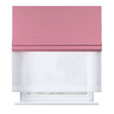 Voile and fabric roman blind (DUO II) 269-92 rose bud pink Collection Royal Blackout