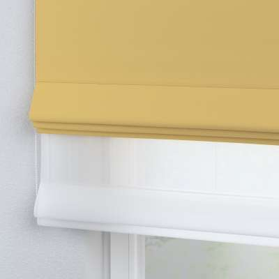 Voile and fabric roman blind (DUO II) 269-12 yellow   Collection Royal Blackout