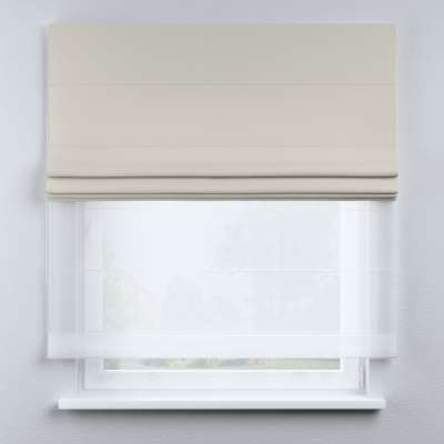 Voile and fabric roman blind (DUO II) in collection Cotton Story, fabric: 702-31