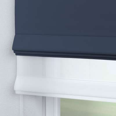 Voile & fabric roman blind DUO 269-16 navy blue Collection Blackout