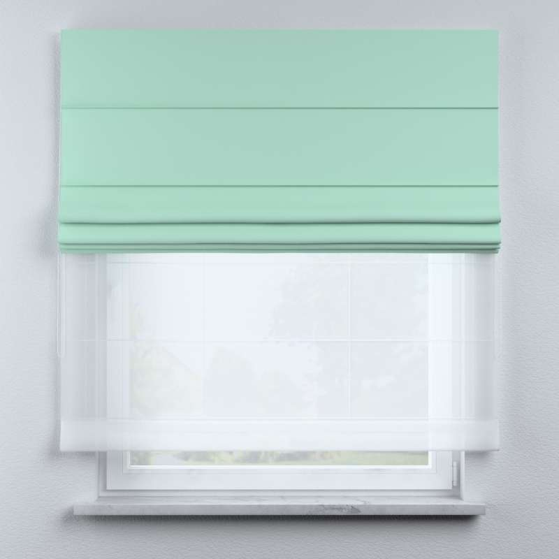 Voile and fabric roman blind (DUO II) in collection Happiness, fabric: 133-37