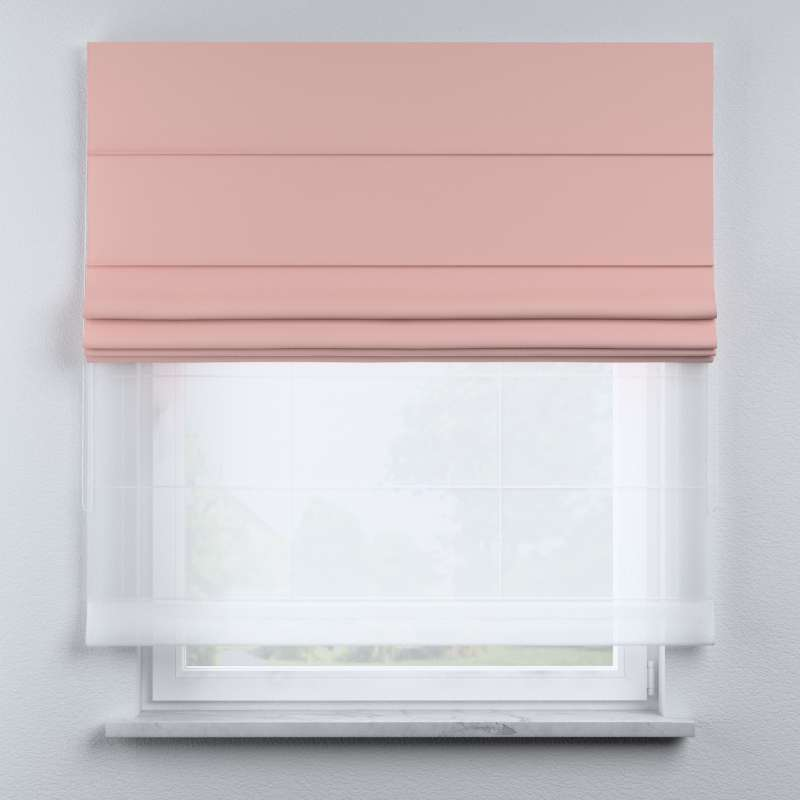 Voile and fabric roman blind (DUO II) in collection Happiness, fabric: 133-39