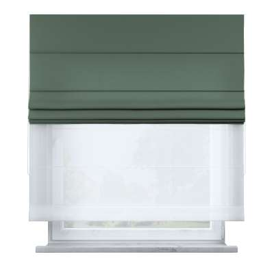 Voile and fabric roman blind (DUO II) 159-08 off green Collection Nature