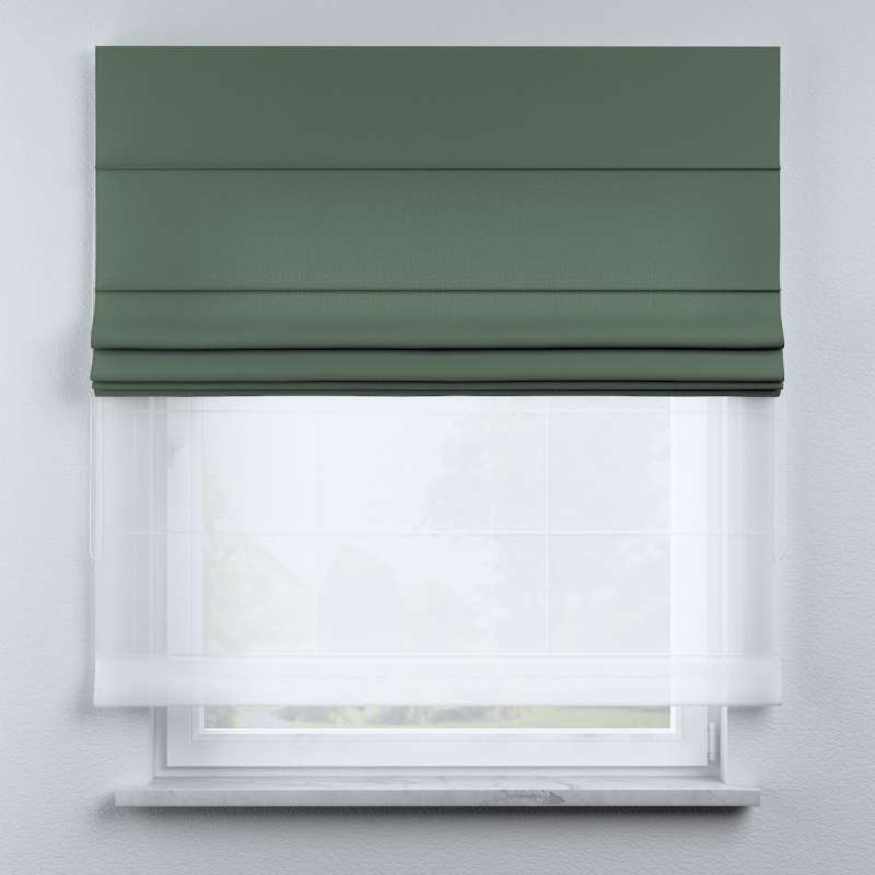 Voile and fabric roman blind (DUO II) in collection Nature, fabric: 159-08