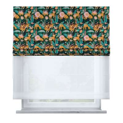 Voile and fabric roman blind (DUO II) 500-42 Collection Magic Collection