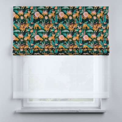 Voile and fabric roman blind (DUO II) in collection Magic Collection, fabric: 500-42