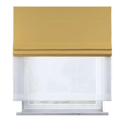 Voile and fabric roman blind (DUO II) in collection Cotton Story, fabric: 702-41
