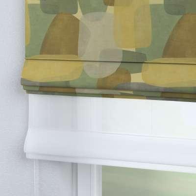 Roleta rzymska Duo 143-72 geometryczne wzory w zielono-brązowej kolorystyce Kolekcja Vintage 70's