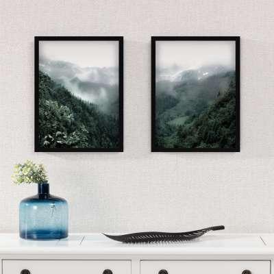 Billede med ramme Green Hills I 30x40cm Billeder med ramme - Dekoria.dk