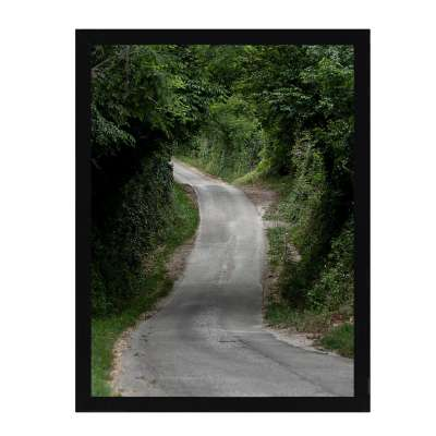 Billede med ramme Green Road 30x40cm