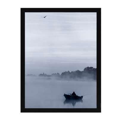 Billede med ramme Foggy Lake I 30x40cm