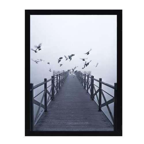 Wandbild Foggy Lake II 30x40cm