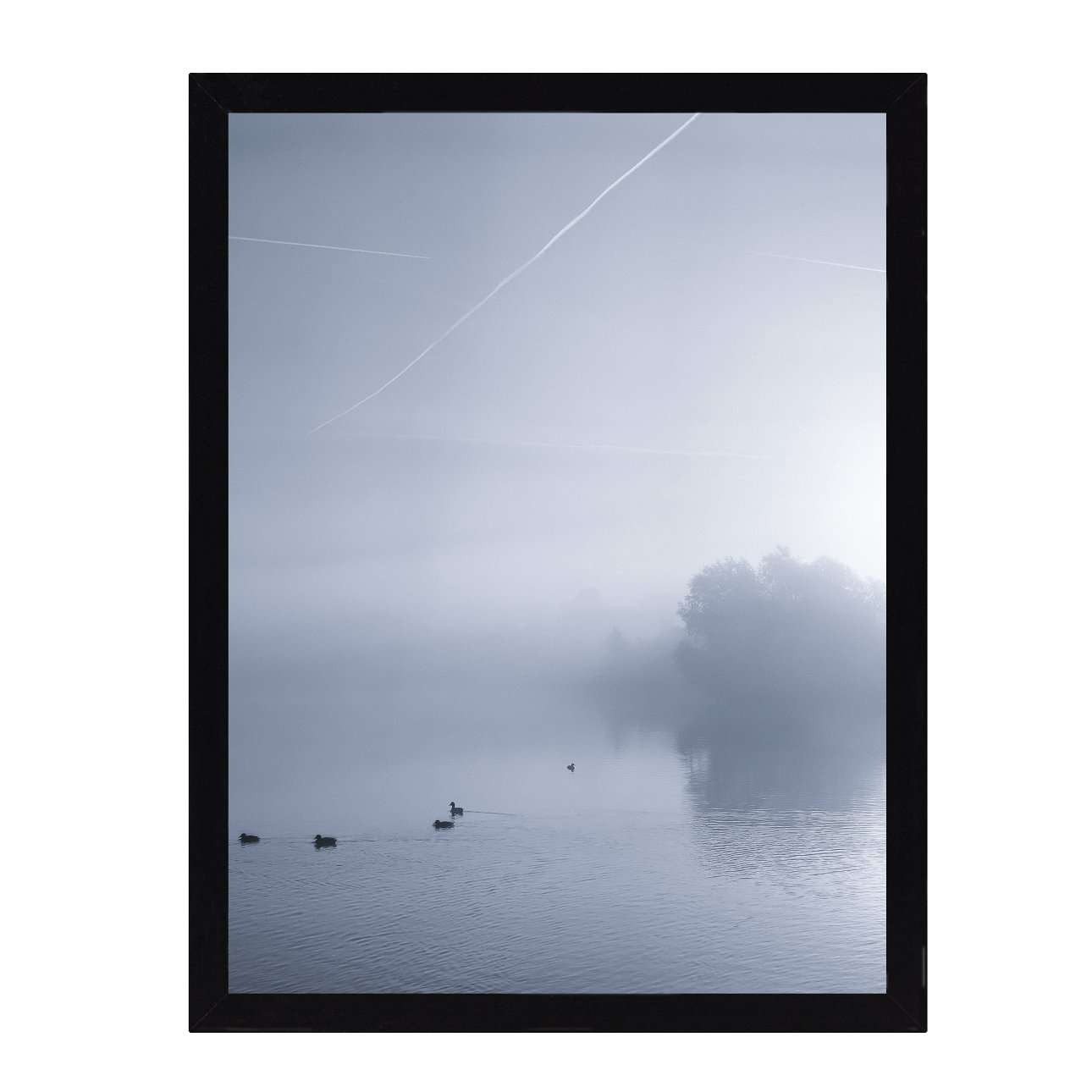 Wandbild Foggy Lake III 30x40cm, 30 × 40 cm | Dekoration > Bilder und Rahmen > Bilder | Dekoria