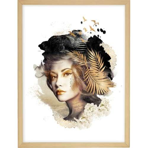 Poster Woman 30x40cm gold