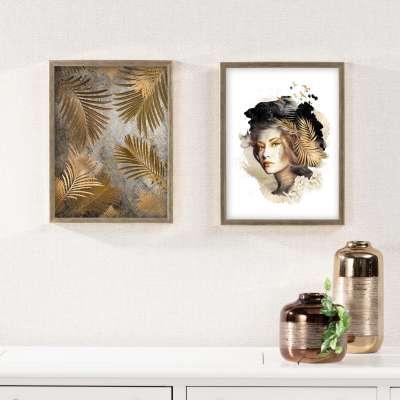 Billede med ramme Woman 30x40cm gold Billeder med ramme - Dekoria.dk