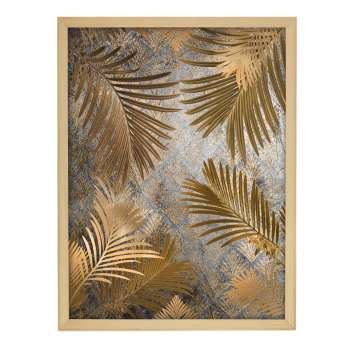 Wandbild Golden Leaves 30x40cm gold