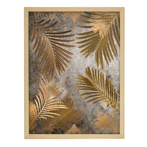 Framed print Golden Leaves 30x40cm gold