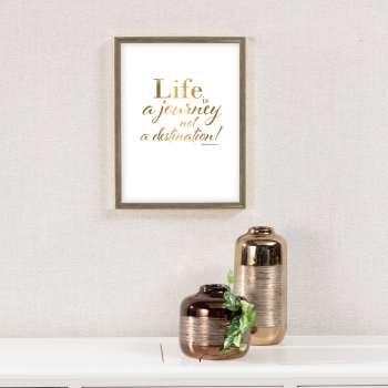 Wandbild Life is a journey 30x40cm gold
