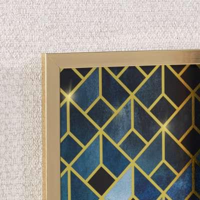 Wandbild Geometric 30x40cm gold&navy
