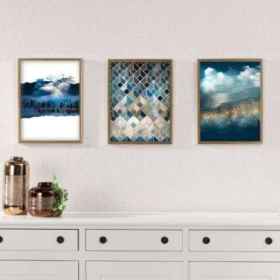 Obraz z řady Gold&navy Imagination 30x40cm
