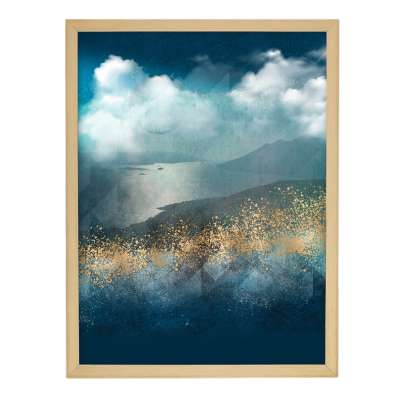 Obraz z řady Gold&navy Impression 30x40cm