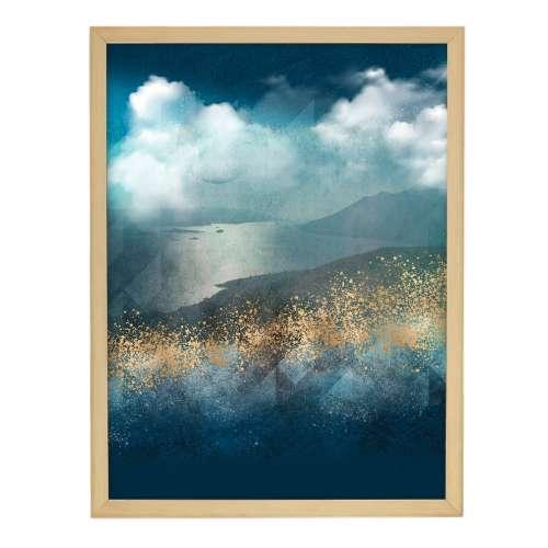 Poster in lijst Impression 30x40cm gold&navy