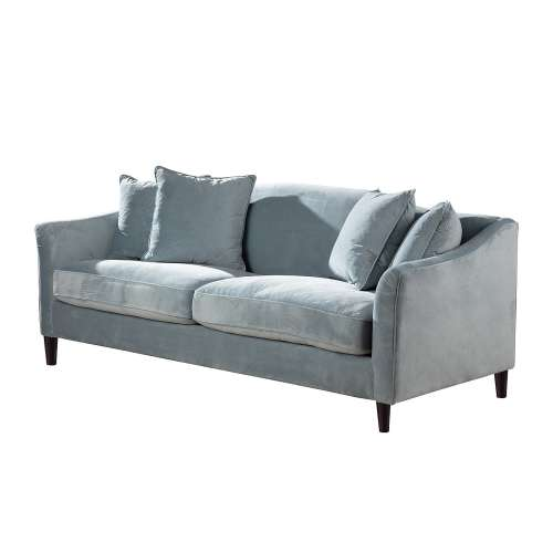 Dekoria Sofa Velvet Cloud blue 3-os.