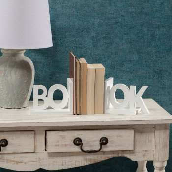 Komplet podpórek do książek Book white