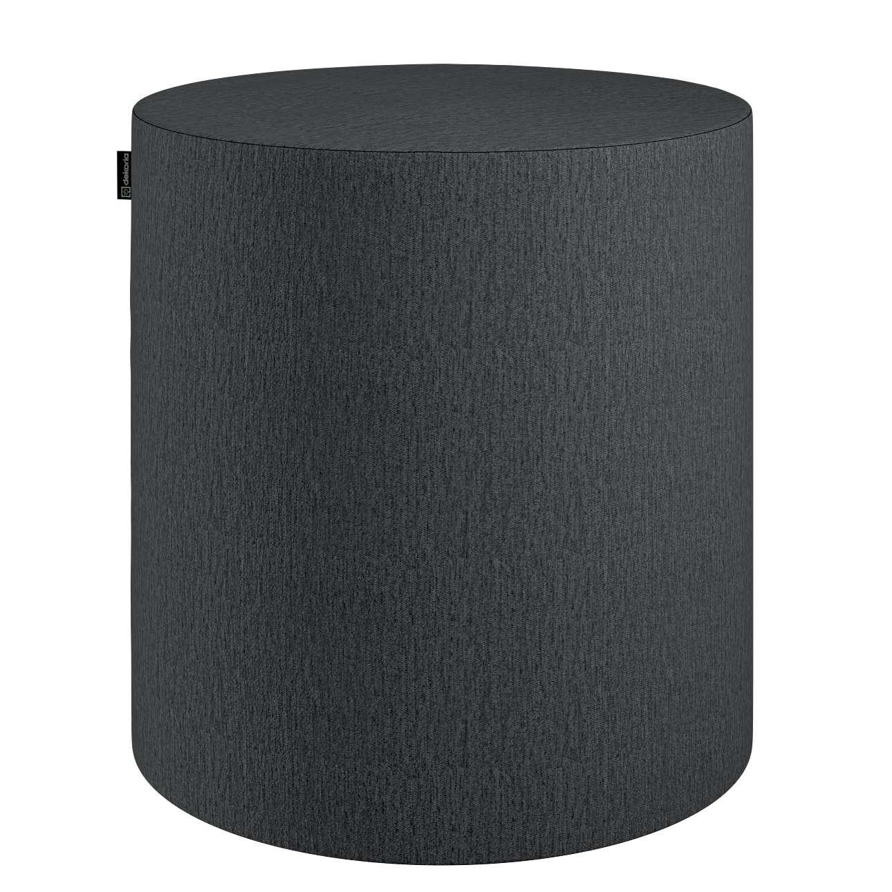 Pouf Barrel von der Kollektion Chenille, Stoff: 702-20