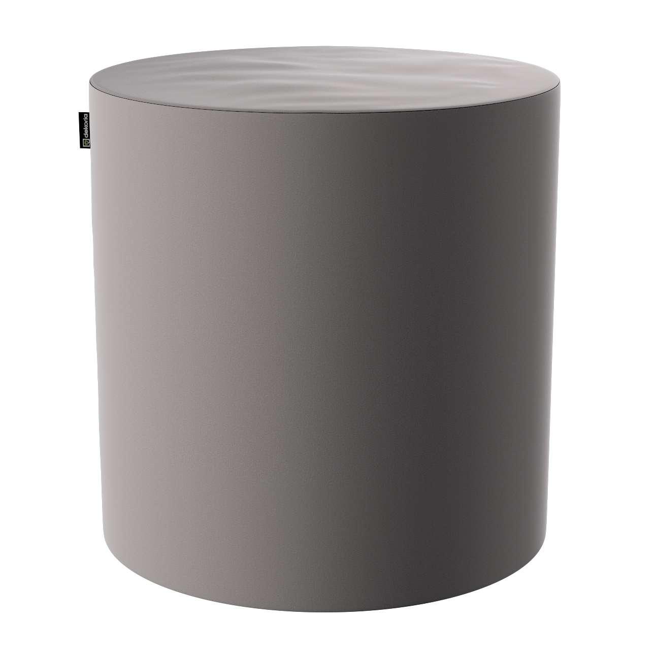 Pouf Barrel, grau, ø40 × 40 cm, Velvet   Wohnzimmer > Hocker & Poufs > Poufs   Stoff   Dekoria