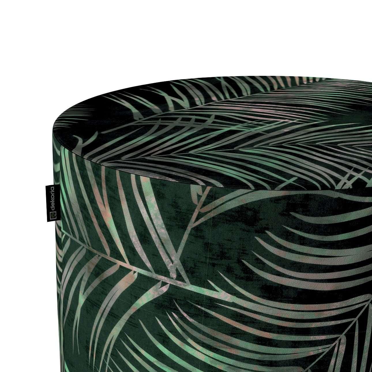 Pouf Barrel von der Kollektion Velvet, Stoff: 704-21
