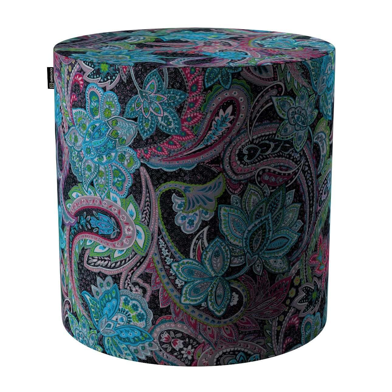 Pouf Barrel von der Kollektion Velvet, Stoff: 704-22