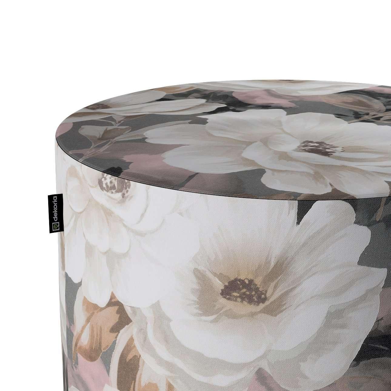 Puf Barrel w kolekcji Gardenia, tkanina: 142-13