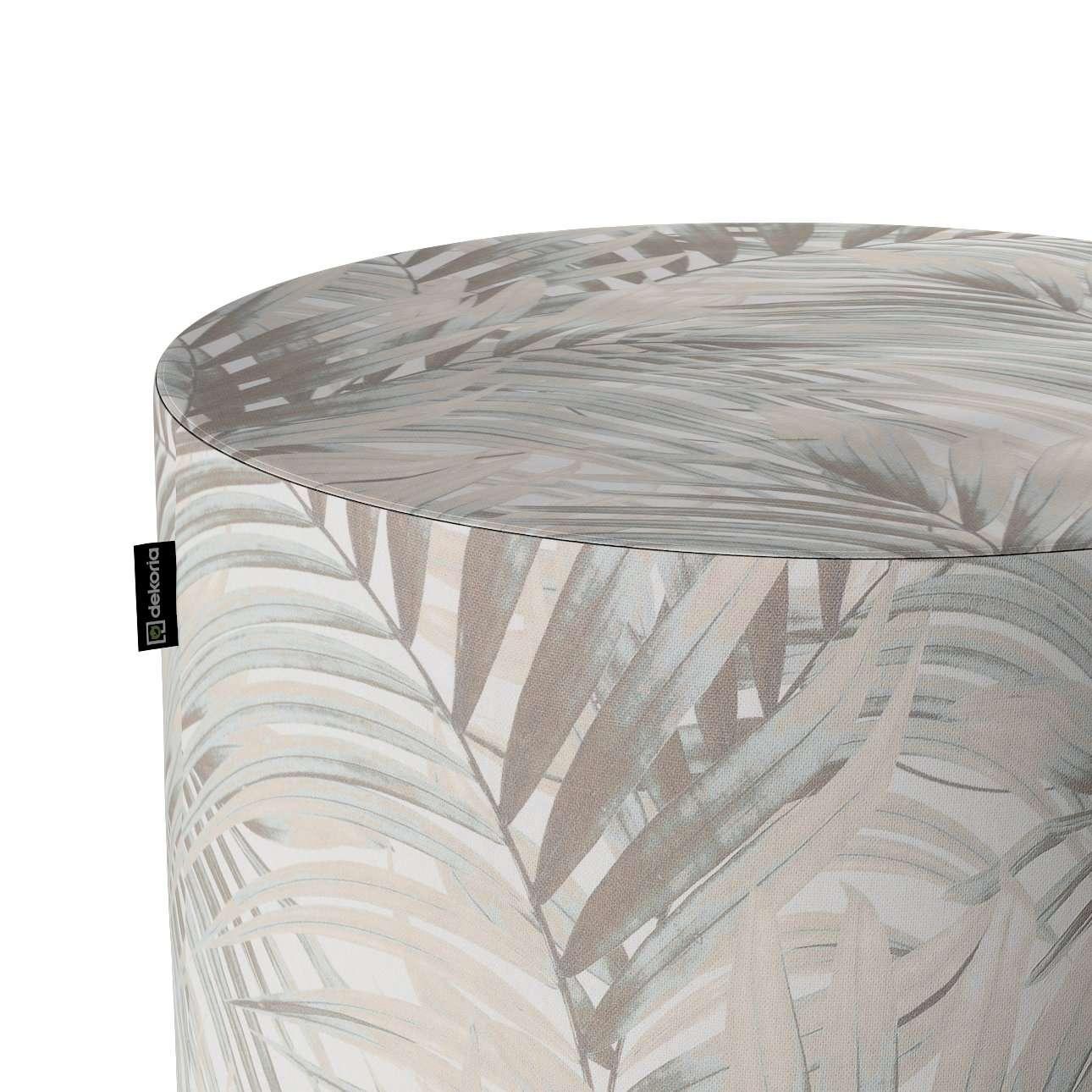 Puf Barrel w kolekcji Gardenia, tkanina: 142-14