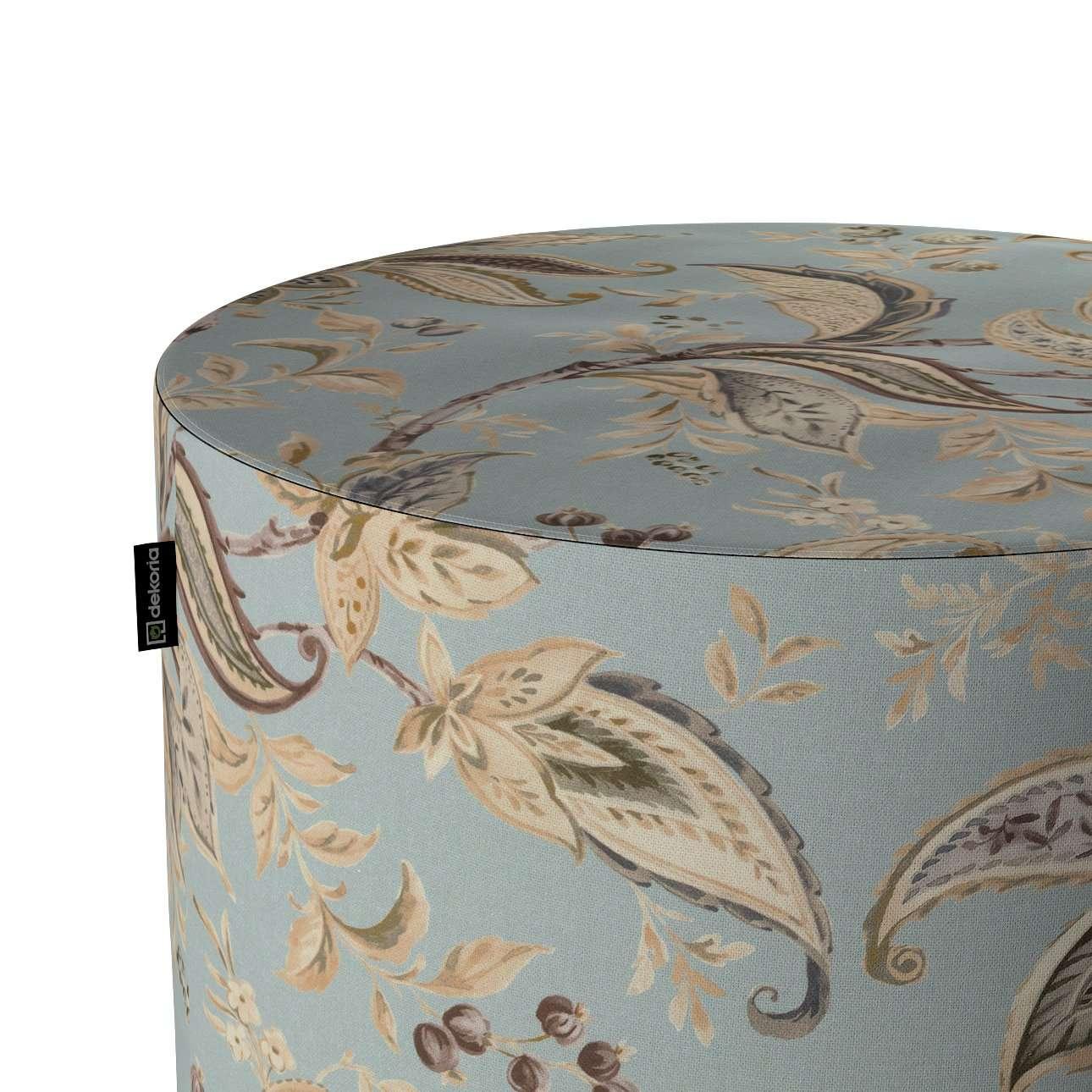 Puf Barrel w kolekcji Gardenia, tkanina: 142-18