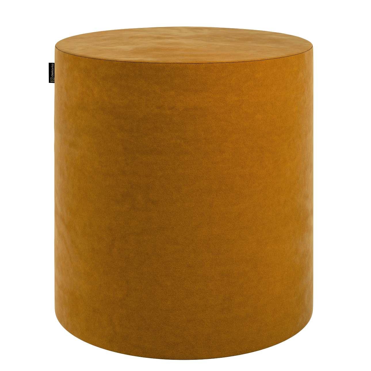 Puf Barrel w kolekcji Velvet, tkanina: 704-23
