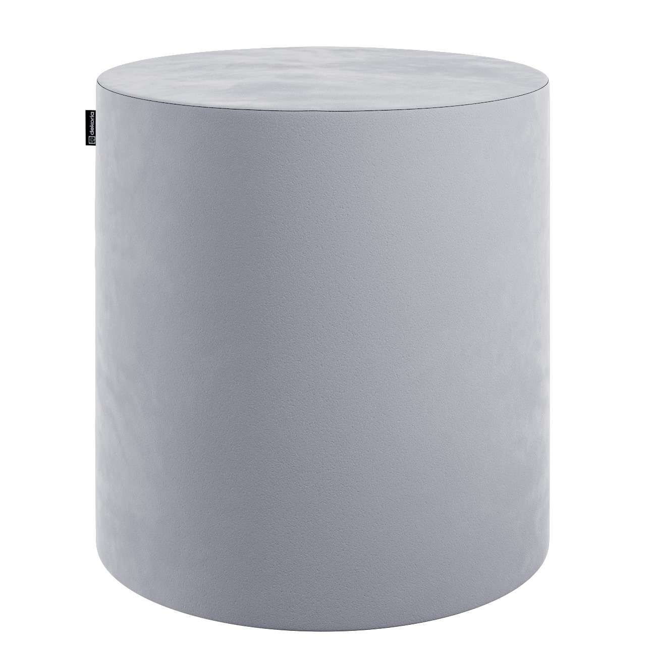 Pouf Barrel, grau, ø40 × 40 cm, Velvet | Wohnzimmer > Hocker & Poufs > Poufs | Stoff | Dekoria