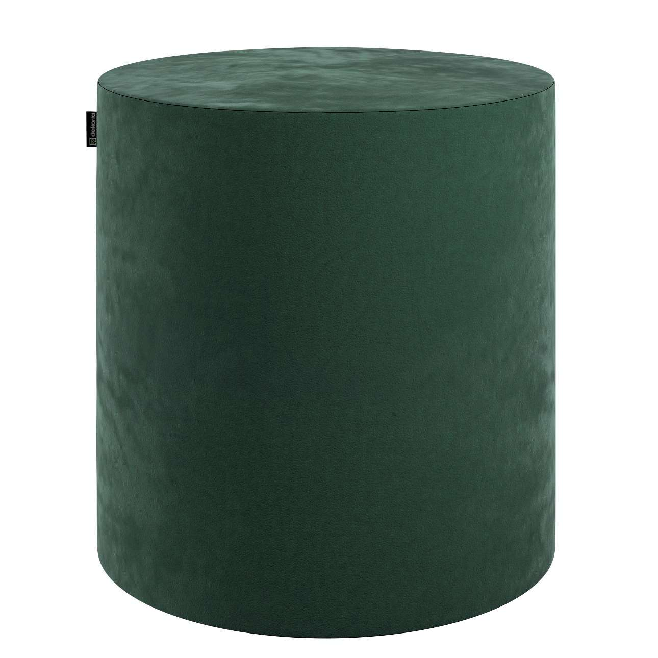 Pouf Barrel, dunkelgrün, ø40 × 40 cm, Velvet | Wohnzimmer > Hocker & Poufs > Poufs | Stoff | Dekoria