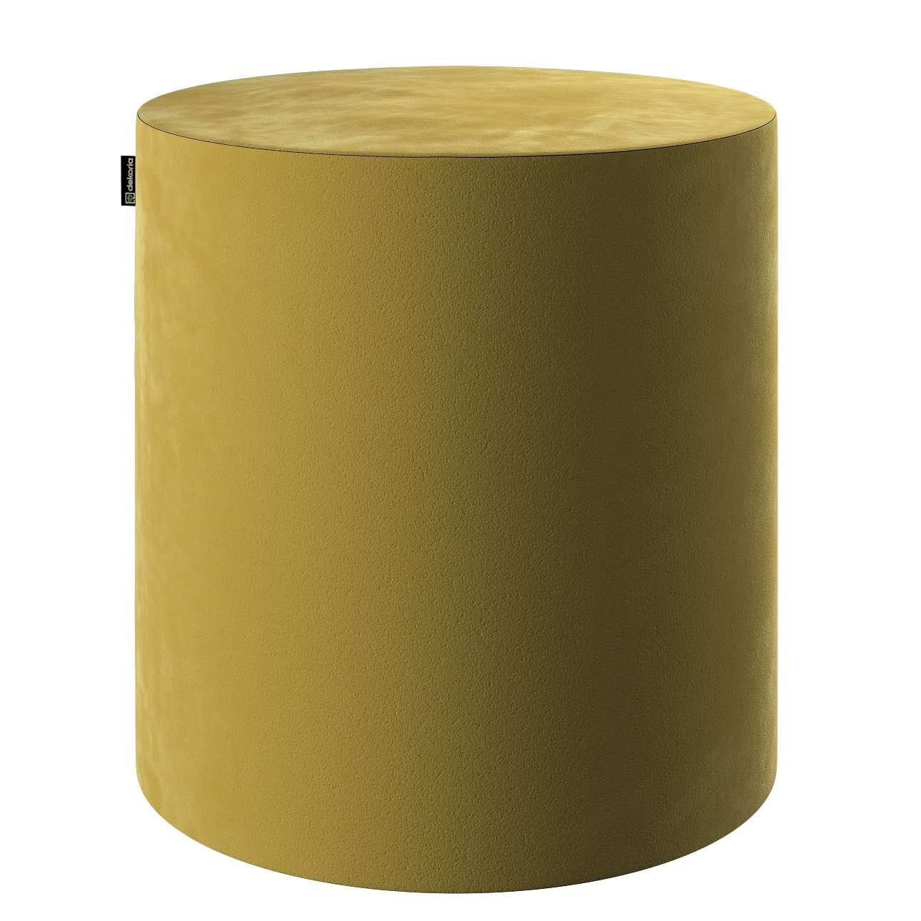 Pouf Barrel von der Kollektion Velvet, Stoff: 704-27